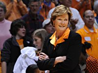 Pat Summitt as coach of the Tennessee Lady Vols basketball team.