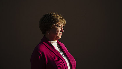 Brenda Hyleman, a volunteer with the Vulnernable Adult Guardian ad Litem program, poses for a portrait on the University of South Carolina campus on Monday November 19, 2012.