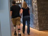 Un soldado herido. Día de los Veteranos 2013.