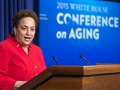 Jo Ann Jenkins, CEO of the AARP, speaks at the 2015 White House Conference on Aging at the White House in Washington onon July 13, 2015.