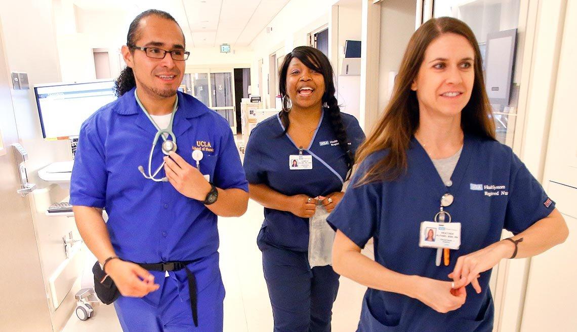 3 nurses at UCLA Medical Center,  National Nurses Week