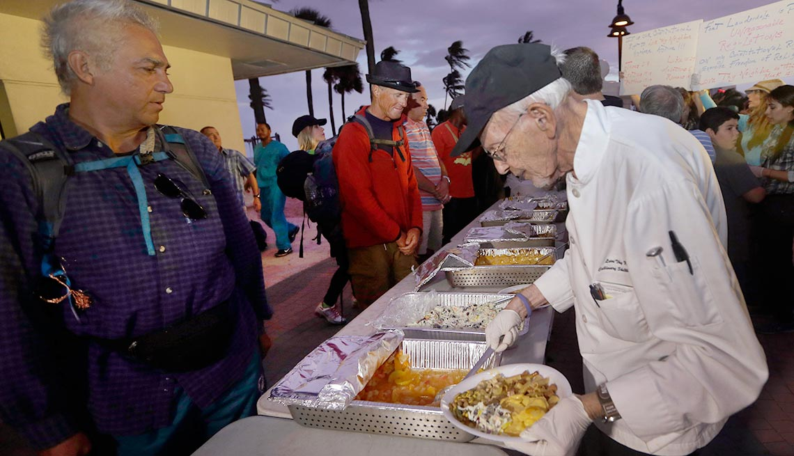 Arnold Abbott, feed the homeless, that's outrageous