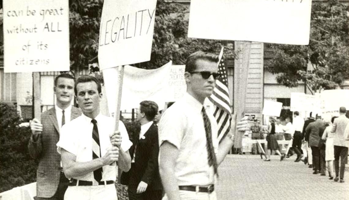 Milestones in Gay History in America - early demonstrations
