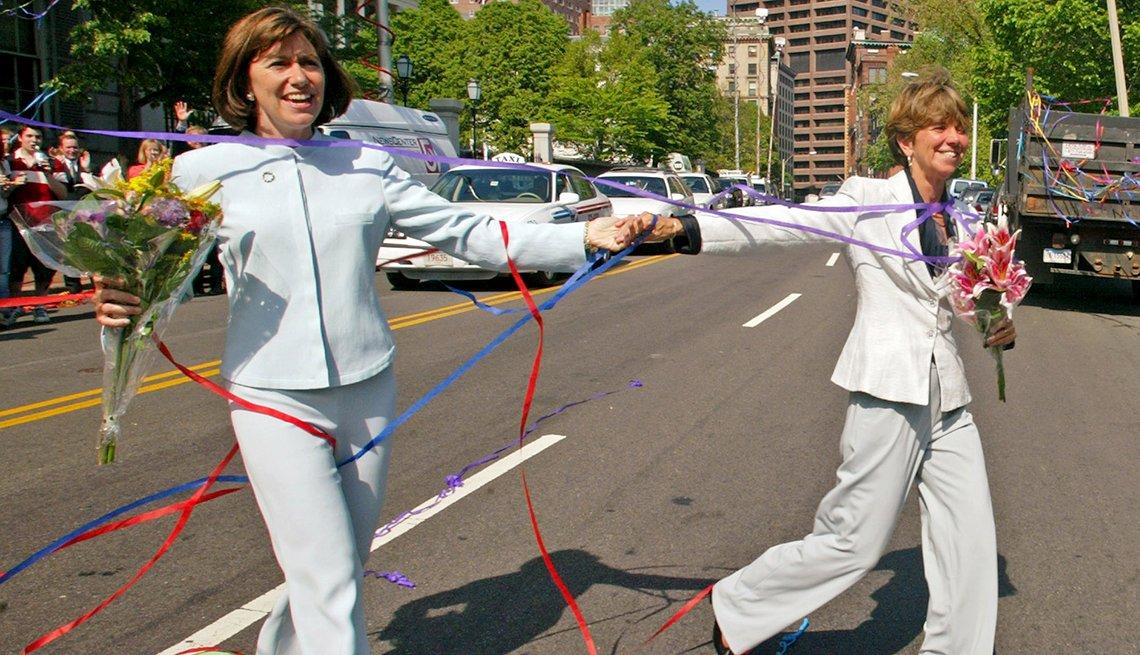 Dos mujeres casándose en Massachusetts