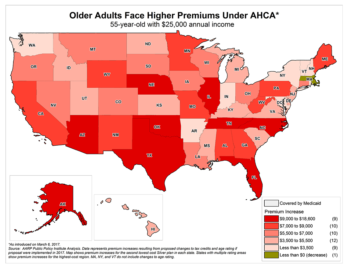 How Higher Premiums Under AHCA Will Affect Your State