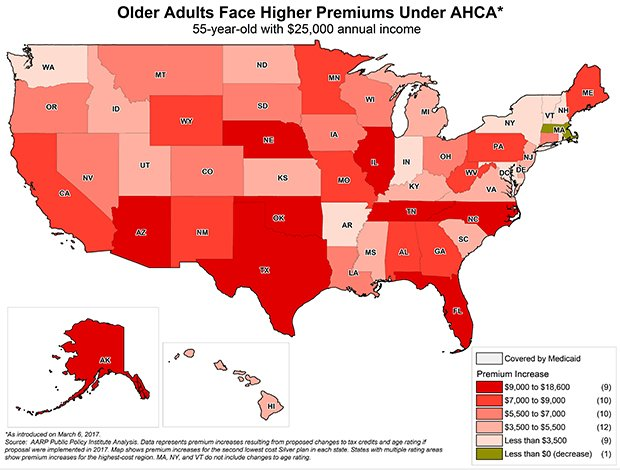 Older Adults Face Higher Premiums Under AHCA