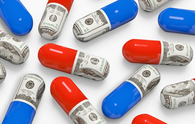 Cápsulas rojas y azules con dinero adentro - Costo medicamentos