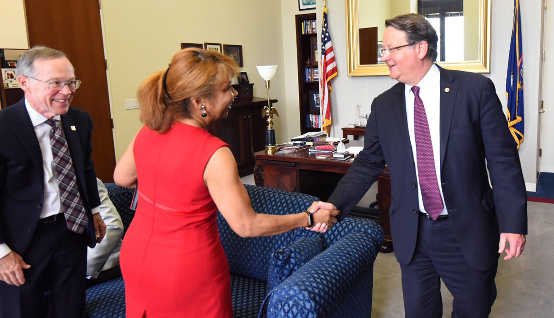 AARP Lobby Day meeting with Senator Gary Peters.