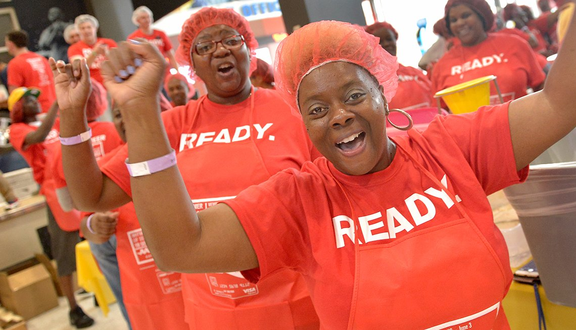 AARP Meal Pack Challenge 2017 Summer of service to seniors in Memphis., Tn