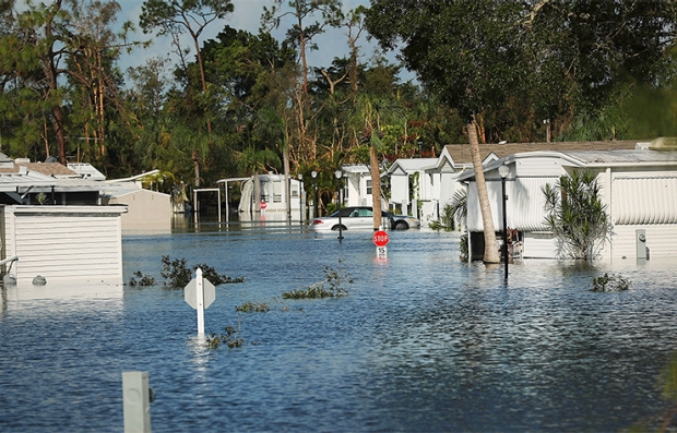 Inundaciones tras el paso del huracán Irma por Fort Myers, Forida
