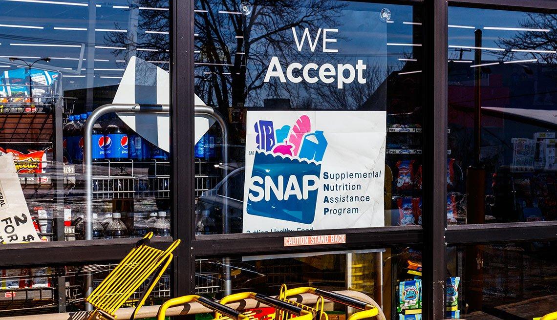Comercio con rotulación que dice que acepta SNAP