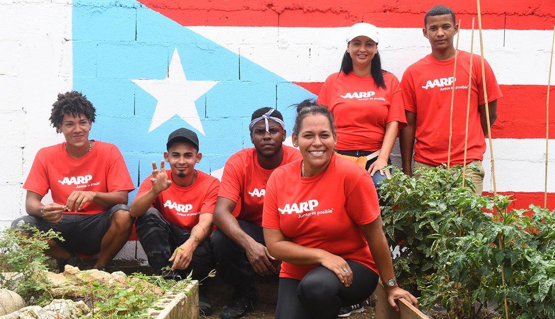 Voluntarios de AARP ayudando a Puerto Rico