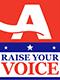 Raise your voice badge
