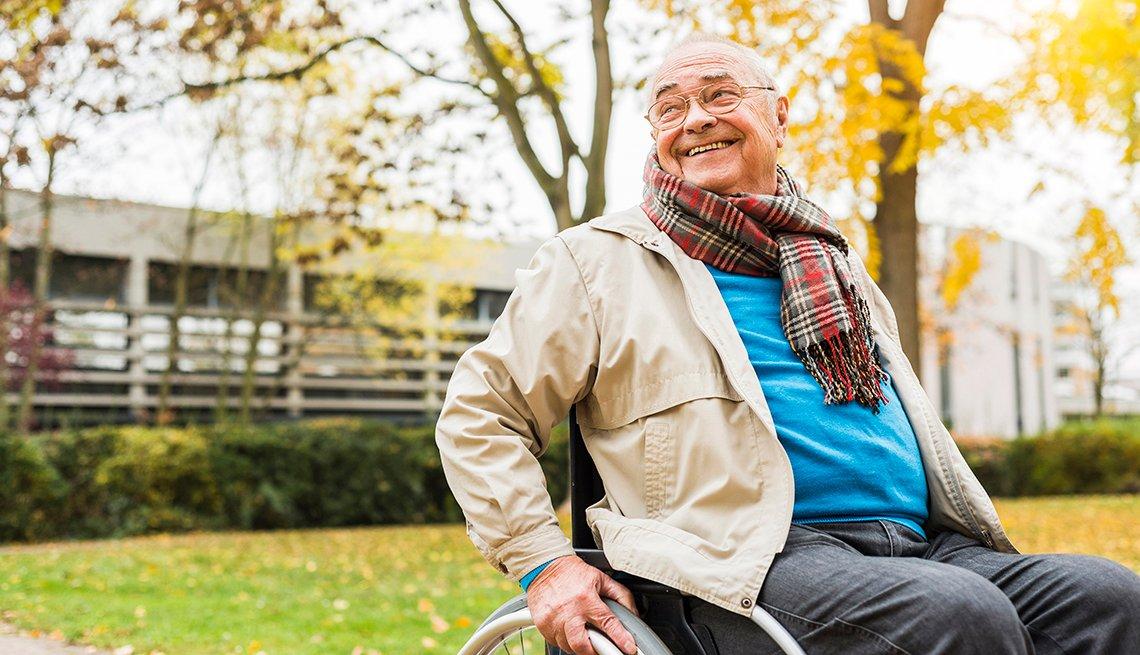 Older man in a wheelchair