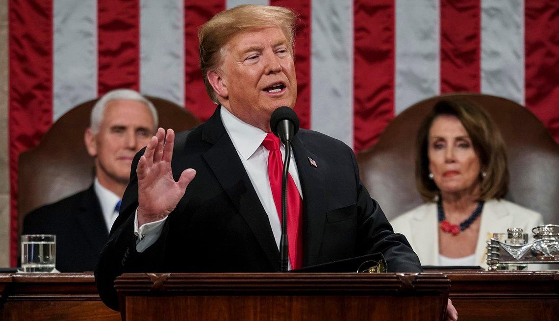 Donald Trump gives the State of Union