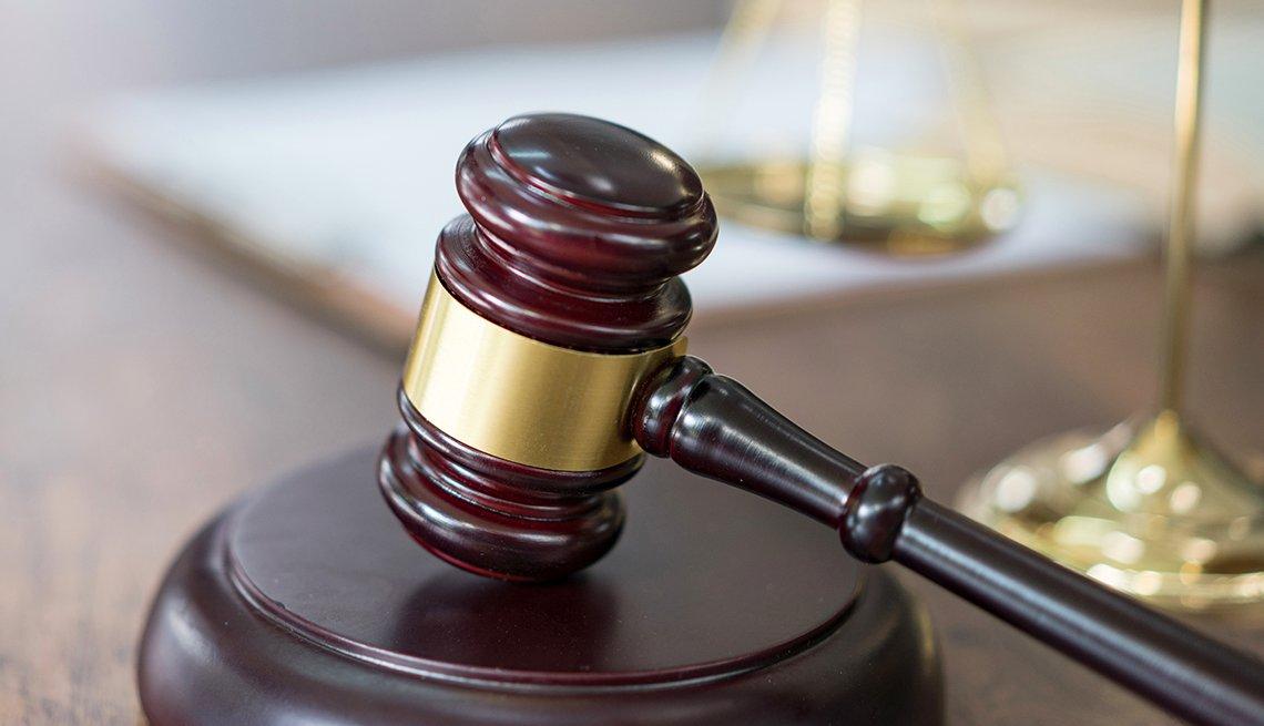 Martillo de una corte judicial