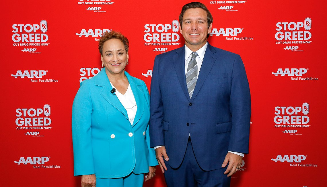 Jo Ann Jenkins and Florida Governor Ron DeSantis