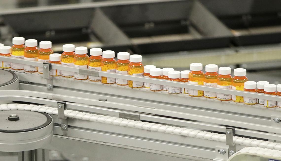 Línea de ensamblaje de medicamentos