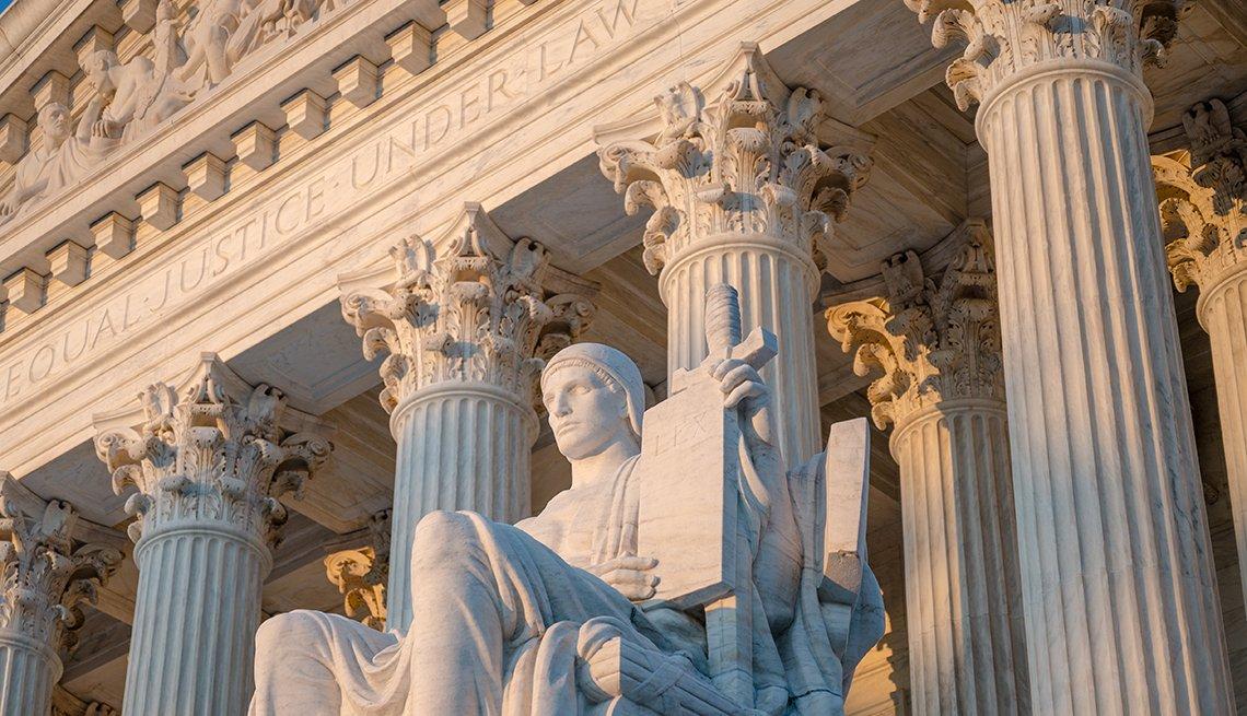 Plano exterior de la Corte Suprema