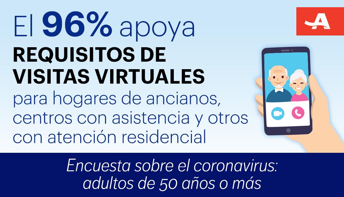 Gráfica sobre apoyo a requisitos de visitas virtuales