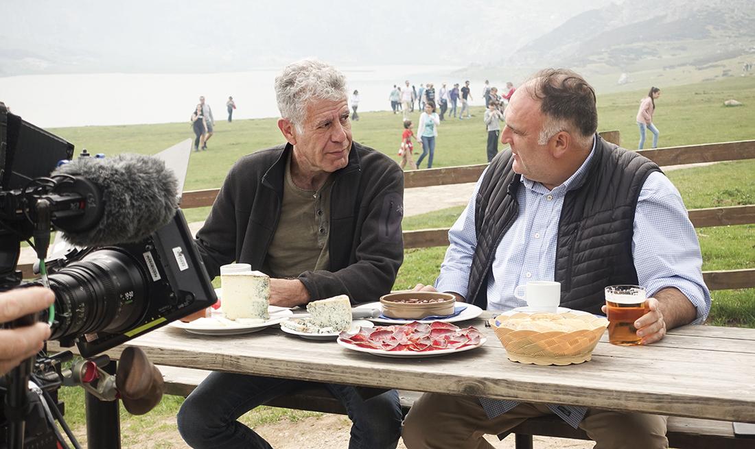 José Andrés habla con Anthony Bourdain