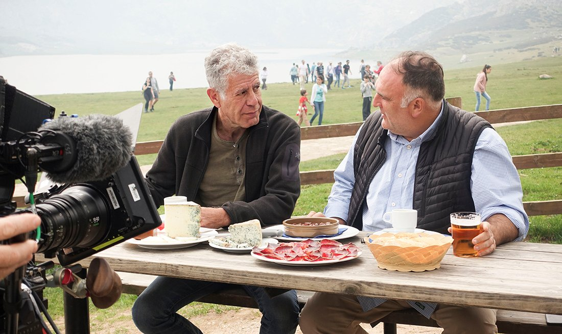 Jose Andres talks with Anthony Bourdain