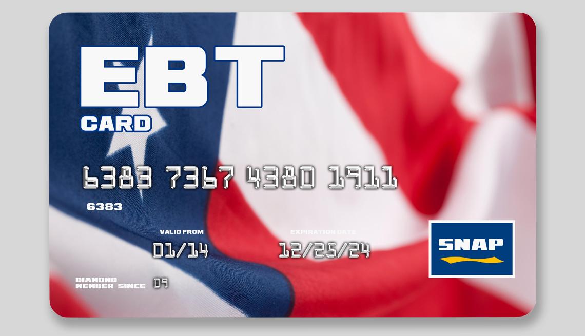Tarjeta EBT de beneficios SNAP