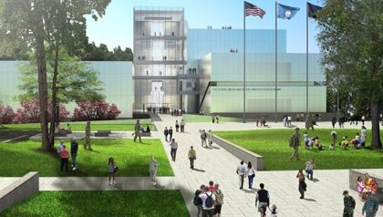 This conceptual rendering of the new National Army Museum are provided by Skidmore, Owings & Merrill, LLP, the Museum's architecture firm.