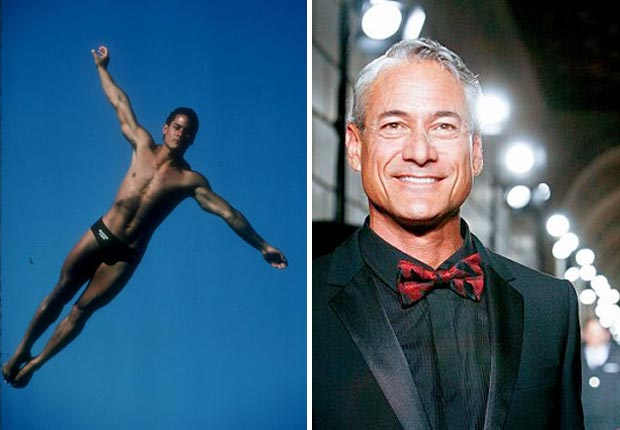 Olympic Diver Greg Louganis of the USA diving team in action in 1984.