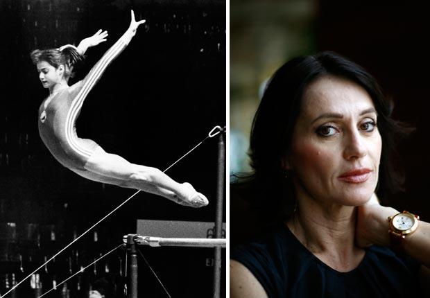 Romanian gymnast Nadia Komaneci