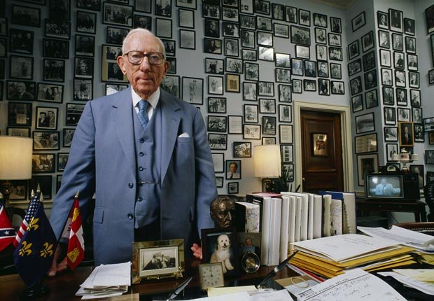 Claude Pepper in his office in the House of Representatives