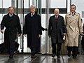 Ex-presidentes de EE.UU. George W. Bush, Bill Clinton, Jimmy Carter y George Bush - Cómo los Ex-Presidentes manejan su tiempo después de dejar el cargo
