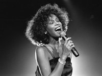 Whitney Houston pop singer onstage