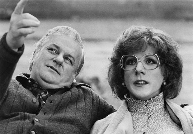 Charles Durning and Dustin Hoffman in the film Tootsie. Durning died on December 24, 2012.