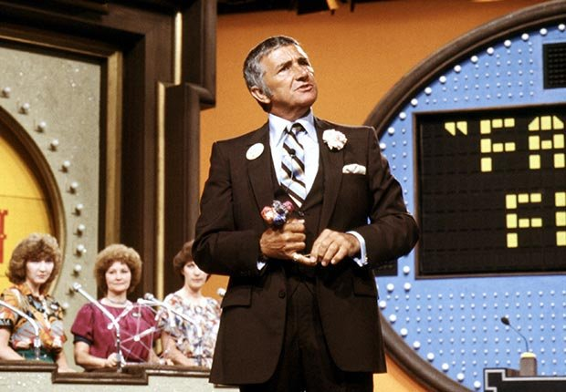 TV host Richard Dawson on Family Feud.  Dawson died on June 2, 2012.