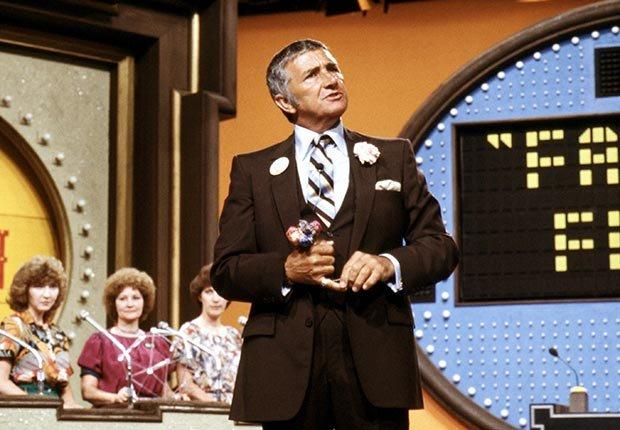 TV host Richard Dawson on Family Feud.  Dawson died on June 2, 2012.
