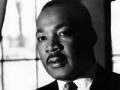 Retrato del líder de derechos civiles Martin Luther King Jr. en su visita a París en 1965