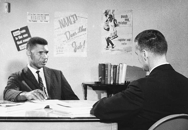 Medgar Evers NAACP Mississippi Secretary slain civil rights leader 1963 cbs interview television