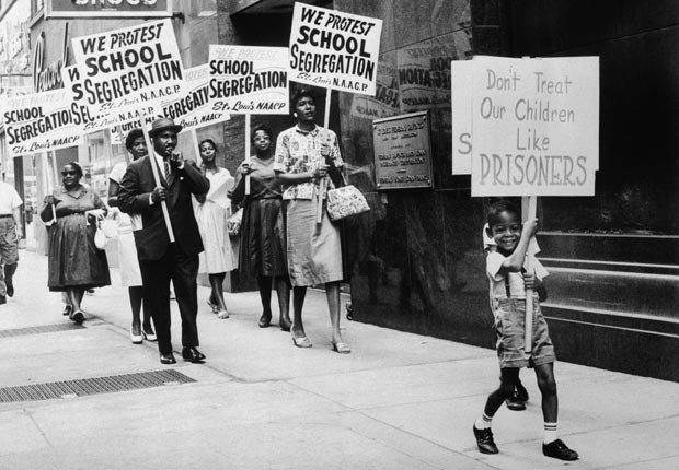Derechos civiles NAACP eventos de integración escolar en 1963