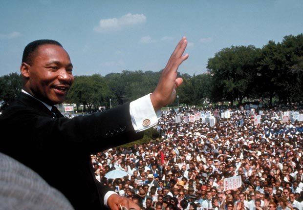 Martin Luther King Jr. hace su discurso