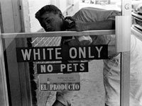 Hampton, Virginia. 1962 civil rights whites only sign