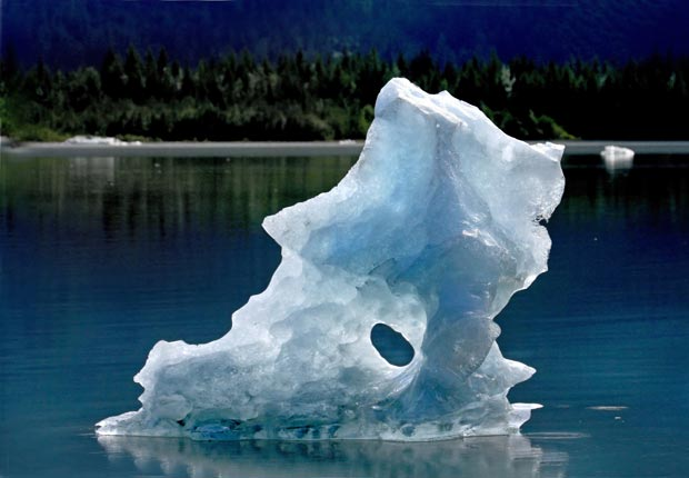 Blue iceberg melts in lake, 10 effects of climate change