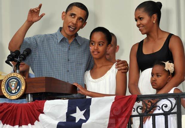 El presidente Barack Obama, Michelle Obama y sus hijas celebran el 4 de julio en la Casa Blanca -  El 4 de julio en el transcurso de la historia