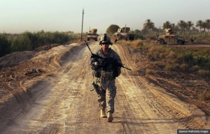 A soldier on patrol in Iraq. The Long Walk: A Story of War and the Life that Follows (Spencer Platt/Getty Images)