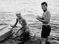 John F. Kennedy y Jackie en Hyannis Port, Mass- Imágenes del fotógrafo Jacques Lowe