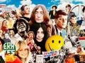 Íconos de la generación Boomer Beaver, James Brown, Jimi Hendrix, John Lennon, Yoko Ono, JFK, John Belushi