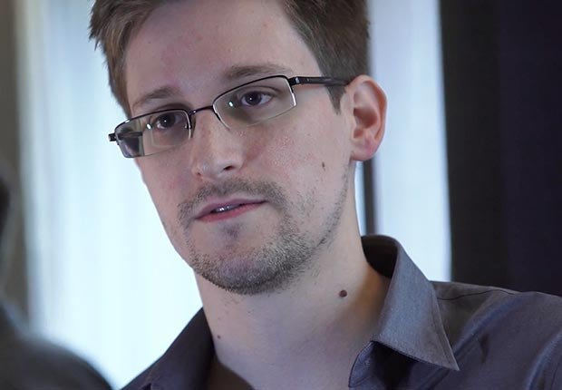 Edward Snowden, a former technical assistant for the CIA, revealed details of top-secret surveillance conducted by the NSA, speaks during an interview in Hong Kong. (Getty Images)