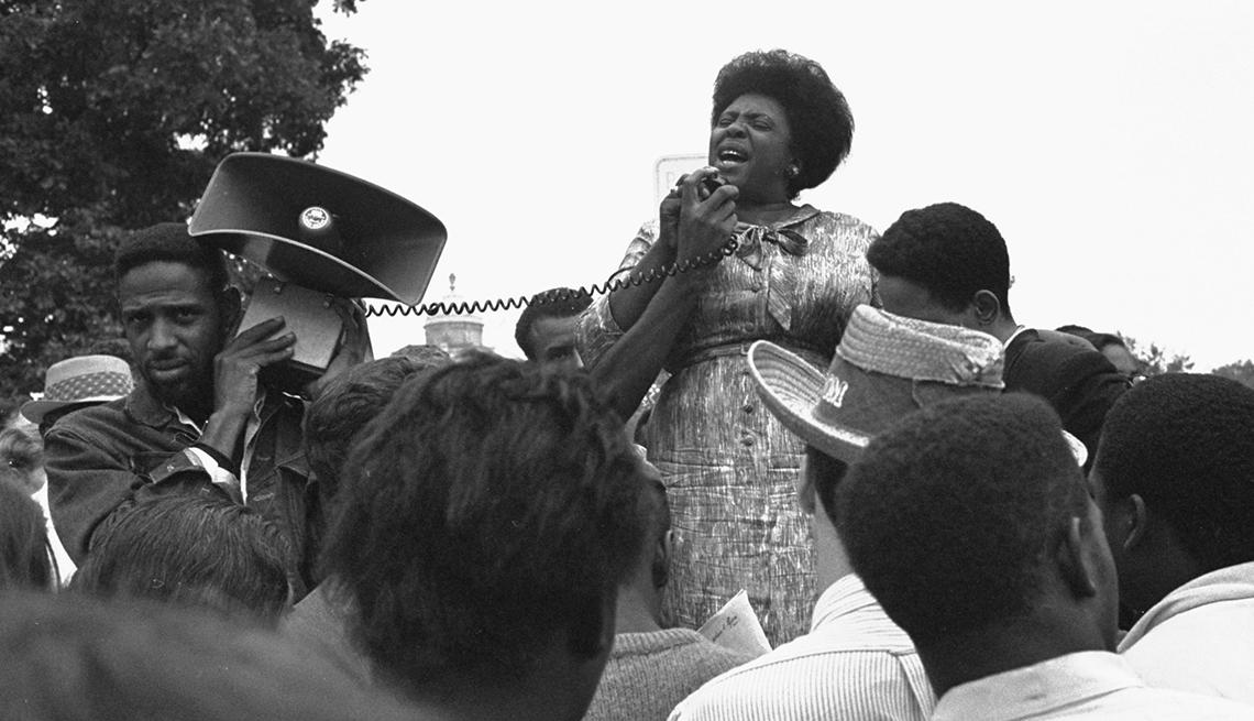 Fannie Lou Hamer, Women Civil Rights leaders, 1965 speech, Black History Month