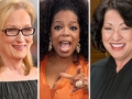 Influential Boomer Women Meryl Streep, Oprah Winfrey and Sonia Sotomayor