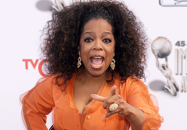 Actress Oprah Winfrey arrives at the 45th NAACP Image Awards